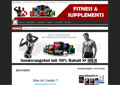 Fitness und Supplements